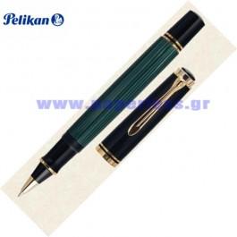 R600 SOUVERAN BLACK GREEN ROLLER BALL PELIKAN ΣΤΥΛΟ Στυλογράφοι-Πένες ειδη γραφειου, αναλωσιμα, γραφικη υλη - paperless.gr
