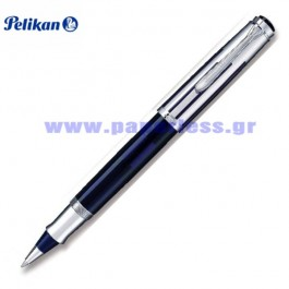 R625 SOUVERAN BLUE TRANSPARENT STERLING ROLLER BALL PELIKAN ΣΤΥΛΟ Στυλογράφοι-Πένες ειδη γραφειου, αναλωσιμα, γραφικη υλη - paperless.gr
