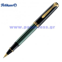 R800 SOUVERAN BLACK GREEN ROLLER BALL PELIKAN ΣΤΥΛΟ Στυλογράφοι-Πένες ειδη γραφειου, αναλωσιμα, γραφικη υλη - paperless.gr