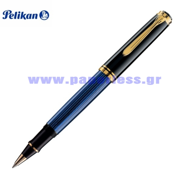 R800 SOUVERAN BLACK BLUE ROLLER BALL PELIKAN ΣΤΥΛΟ Στυλογράφοι-Πένες ειδη γραφειου, αναλωσιμα, γραφικη υλη - paperless.gr
