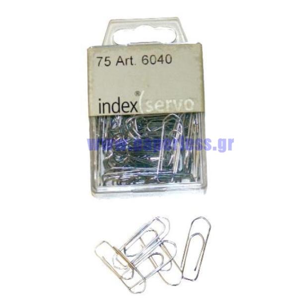 ΣΥΝΔΕΤΗΡΕΣ ΜΕΤΑΛΛΙΚΟΙ SERVO 32mm 75 τεμάχια INDEX Συνδετήρες - Κλίπ - Ελάσματα ειδη γραφειου, αναλωσιμα, γραφικη υλη - paperless.gr
