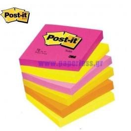ΑΥΤΟΚΟΛΛΗΤΑ ΧΑΡΤΑΚΙΑ  76X 76mm Post-it  654-TF 100Φ 3M ΣΕΤ 6 TEM Αυτοκόλλητα Χαρτάκια-Κύβοι ειδη γραφειου, αναλωσιμα, γραφικη υλη - paperless.gr