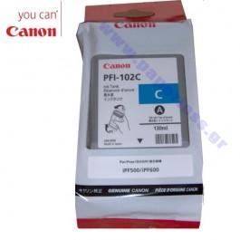 ΜΕΛΑΝΙ CANON PFI-102C 0896B001 CYAN ~450p Canon inkjet ειδη γραφειου, αναλωσιμα, γραφικη υλη - paperless.gr