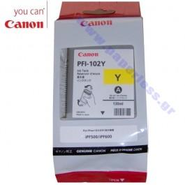 ΜΕΛΑΝΙ CANON PFI-102Y 0898B001 YELLOW ~450p Canon inkjet ειδη γραφειου, αναλωσιμα, γραφικη υλη - paperless.gr
