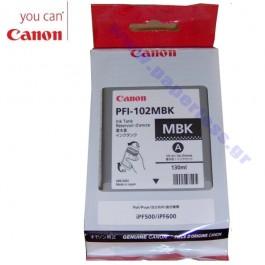 ΜΕΛΑΝΙ CANON PFI-102MBK 0894B001 MATTE BLACK ~450p Canon inkjet ειδη γραφειου, αναλωσιμα, γραφικη υλη - paperless.gr