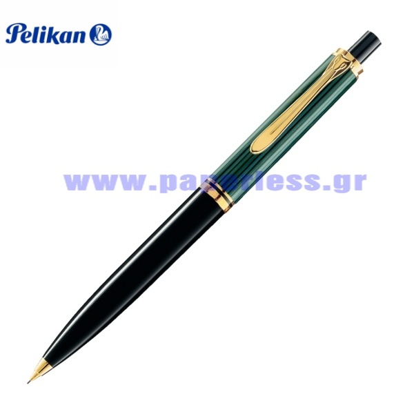 D300 SOUVERAN BLACK GREEN PENCIL PELIKAN ΜΟΛΥΒΙ Στυλογράφοι-Πένες ειδη γραφειου, αναλωσιμα, γραφικη υλη - paperless.gr