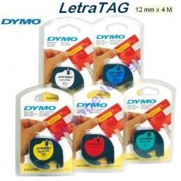 ΕΤΙΚΕΤΕΣ DYMO LETRATAG 12mm x 4m ΧΑΡΤΙΝΕΣ 91200 ΛΕΥΚΟ Ετικετογράφοι-Ετικέτες Ετικετογράφων ειδη γραφειου, αναλωσιμα, γραφικη υλη - paperless.gr