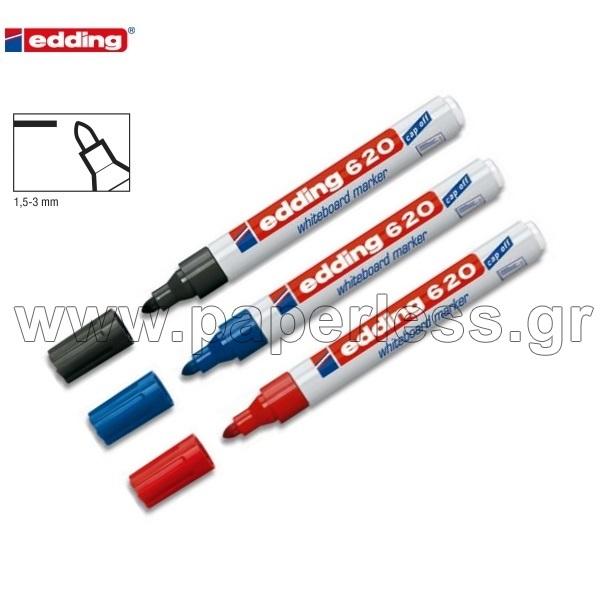 ΜΑΡΚΑΔΟΡΟΣ ΛΕΥΚΟΥ ΠΙΝΑΚΑ EDDING 620 ~1,5-3mm 10 ΤΕΜΑΧΙΑ Πίνακες Λευκοί Μαρκαδόρου ειδη γραφειου, αναλωσιμα, γραφικη υλη - paperless.gr