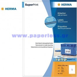 ΕΤΙΚΕΤΕΣ Laser/Copier/InkJet 199,6Χ289,1 100 ΦΥΛΛΑ 4252 HERMA Χάρτινες ετικέτες ειδη γραφειου, αναλωσιμα, γραφικη υλη - paperless.gr