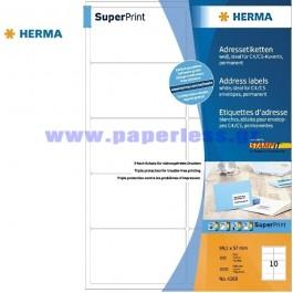 ΕΤΙΚΕΤΕΣ Laser/Copier/InkJet  99,1Χ 57,0 100 ΦΥΛΛΑ 4268 HERMA Χάρτινες ετικέτες ειδη γραφειου, αναλωσιμα, γραφικη υλη - paperless.gr