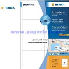 ΕΤΙΚΕΤΕΣ Laser/Copier/InkJet  96,5Χ 67,7 100 ΦΥΛΛΑ 4280 HERMA Χάρτινες ετικέτες ειδη γραφειου, αναλωσιμα, γραφικη υλη - paperless.gr