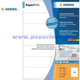 ΕΤΙΚΕΤΕΣ Laser/Copier/InkJet 105,0Χ 42,0 100 ΦΥΛΛΑ 4452 HERMA Χάρτινες ετικέτες ειδη γραφειου, αναλωσιμα, γραφικη υλη - paperless.gr