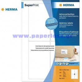 ΕΤΙΚΕΤΕΣ Laser/Copier/InkJet  78,7Χ139,7 100 ΦΥΛΛΑ 4472 HERMA Χάρτινες ετικέτες ειδη γραφειου, αναλωσιμα, γραφικη υλη - paperless.gr