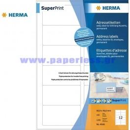 ΕΤΙΚΕΤΕΣ Laser/Copier/InkJet  88,9Χ 46,6 100 ΦΥΛΛΑ 4666 HERMA Χάρτινες ετικέτες ειδη γραφειου, αναλωσιμα, γραφικη υλη - paperless.gr