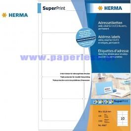 ΕΤΙΚΕΤΕΣ Laser/Copier/InkJet  96,0Χ 50,8 100 ΦΥΛΛΑ 4667 HERMA Χάρτινες ετικέτες ειδη γραφειου, αναλωσιμα, γραφικη υλη - paperless.gr