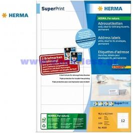 ΕΤΙΚΕΤΕΣ Laser/Copier/InkJet  96,5Χ 42,3 100 ΦΥΛΛΑ 4669 HERMA Χάρτινες ετικέτες ειδη γραφειου, αναλωσιμα, γραφικη υλη - paperless.gr