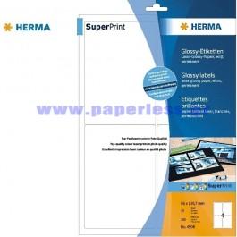 ΕΤΙΚΕΤΕΣ Laser/Copier  96,0Χ139,7 25 ΦΥΛΛΑ 4908 HERMA GLOSSY Χάρτινες ετικέτες ειδη γραφειου, αναλωσιμα, γραφικη υλη - paperless.gr