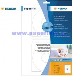 ΕΤΙΚΕΤΕΣ Laser/Copier/InkJet CD/DVD ΛΕΥΚΟ  25 ΦΥΛΛΑ 5079 HERMA για CD-DVD ειδη γραφειου, αναλωσιμα, γραφικη υλη - paperless.gr