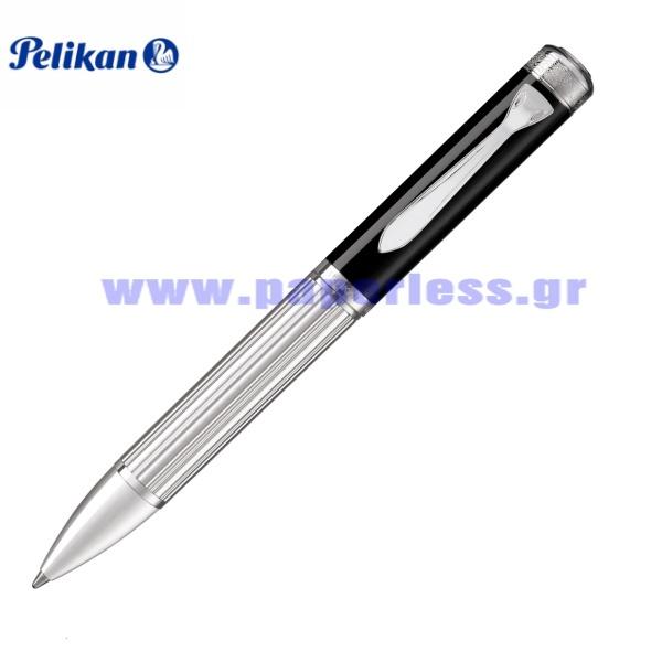 MAJESTY K7005 BLACK STERLING SILVER BALL PEN PELIKAN Στυλογράφοι-Πένες ειδη γραφειου, αναλωσιμα, γραφικη υλη - paperless.gr