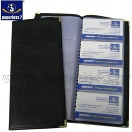 ΘΗΚΗ BUSINESS CARDS ΚΟΛΛΗΤΗ 48 ΘΕΣΕΩΝ Δερματίνη ΜΑΥΡΟ Θήκη Business Cards ειδη γραφειου, αναλωσιμα, γραφικη υλη - paperless.gr