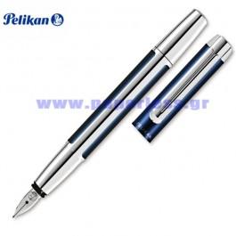 PURA P40 BLUE SILVER FOUNTAIN PEN PELIKAN ΠΕΝΑ Στυλογράφοι-Πένες ειδη γραφειου, αναλωσιμα, γραφικη υλη - paperless.gr