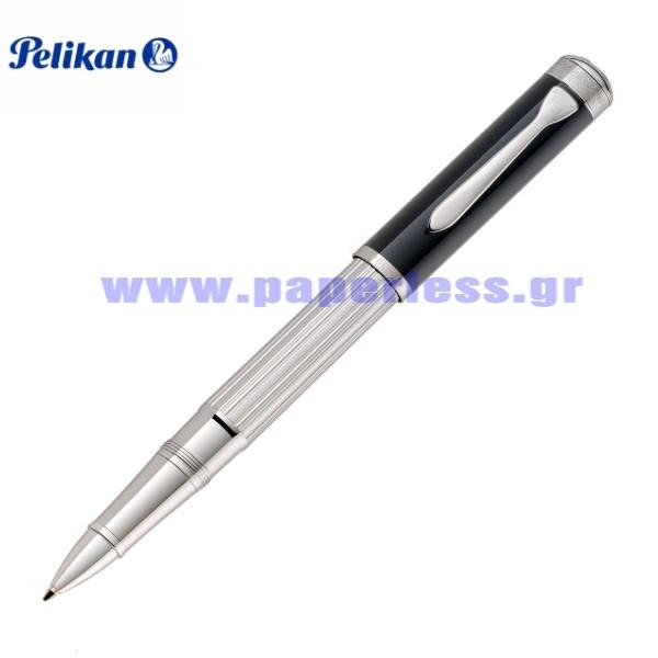 MAJESTY R7005 BLACK STERLING SILVER ROLLER BALL PELIKAN Στυλογράφοι-Πένες ειδη γραφειου, αναλωσιμα, γραφικη υλη - paperless.gr