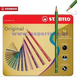 ΜΟΛΥΒΙ ΖΩΓΡΑΦΙΚΗΣ ΣΕΤ 12 ΧΡΩΜΑΤΑ ORIGINAL STABILO ΚΑΣΕΤΙΝΑ Μολύβια ειδη γραφειου, αναλωσιμα, γραφικη υλη - paperless.gr