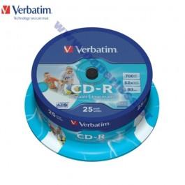 CD-R VERBATIM 52x 80MIN CAKE  25 ΤΕΜΑΧΙΑ 43432 CD - DVD - ΔΙΣΚΕΤΕΣ ειδη γραφειου, αναλωσιμα, γραφικη υλη - paperless.gr
